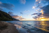Sunset on the Napali Coast, Kauai, Hawaii,United States of America, Pacific Papier Photo par Michael Runkel