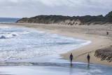 People Walking on a Beach Near Margaret River  Western Australia  Australia  Pacific