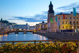 Town Hall and Canal at Dusk  Gothenburg  Sweden  Scandinavia  Europe