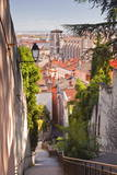 Looking Down onto the Rooftops of Vieux Lyon  Rhone  Rhone-Alpes  France  Europe