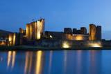 Caerphilly Castle at Dusk  Wales  Gwent  United Kingdom  Europe