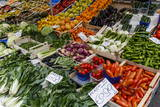 Fruits and Vegetables at Papiniano Market  Milan  Lombardy  Italy  Europe