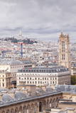 Looking Out over the Rooftops of Paris  France  Europe