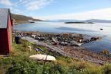 Boat House and Slip Helgoy  Kvalsund  North Norway  Norway  Scandinavia  Europe