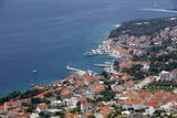 High View of Bol and Harbour  Brac Island  Dalmatian Coast  Croatia  Europe