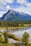 Mount Rundle Rising Above Vermillion Lakes Drive