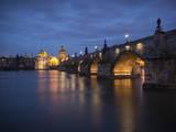 Charles Bridge and River Vltava  Prague  UNESCO World Heritage Site  Czech Republic  Europe