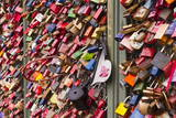 Love Locks on the Railway Bridge in Cologne  North Rhine-Westphalia  Germany  Europe