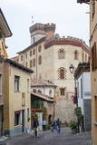 Street Scene in Barolo Village  Langhe  Cuneo District  Piedmont  Italy  Europe