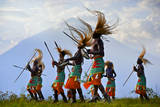 A Tribal Dance Group with a Panoramic View