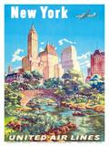 New York - United Air Lines - Gapstow Bridge at Central Park South Pond  Manhattan
