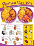 Kids Portion Size Poster- ages 6-12