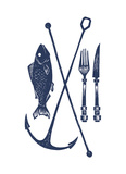 Fish And Fork Reproduction d'art par Monorail Studio