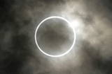 The Moment of the Annular Eclipse of the Sun Is Seen in Tokyo  Japan