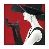 Haute Chapeau Rouge II Reproduction d'art par Marco Fabiano