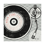 Vintage Analog Record Player Reproduction d'art par Michael Mullan