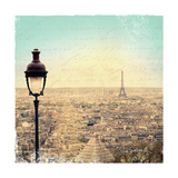 Eiffel Landscape Letter Blue I