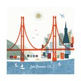 Colorful San Francisco Reproduction d'art par Michael Mullan