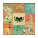 Folk Floral III Center Butterfly