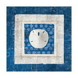 Sea Shell I on Blue Reproduction d'art par Belinda Aldrich