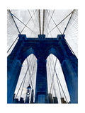 Brooklyn Bridge Blue Giclée premium