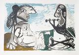 Femme Assise et Joueur De Flute  29-7