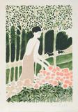 Femme avec Fleurs