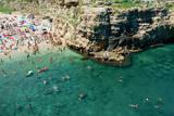 Italia  Apulia  Polignano a Mare Crowded beach on a weekend green