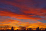 Sky at sunset  Winnipeg  Manitoba  Canada