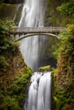 Multnomah Falls along the Columbia River Gorge  Oregon  USA