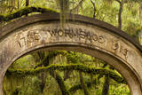 USA  Georgia  Savannah  Entrance to Wormsloe Plantation