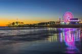USA  California  Los Angeles  Santa Monica Pier Twilight