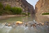 Santa Elena Canyon and Rio Grande at sunrise
