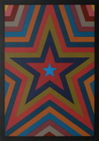 Five Pointed Star with Color Bands