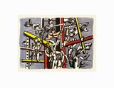Les constructeurs Reproduction d'art par Fernand Leger