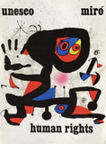 UNESCO Human Rights Reproduction pour collectionneurs par Joan Miró