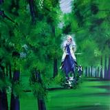 c - Cavalier en forêt