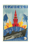 Visit the Ussr Travel Poster