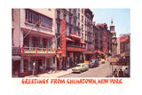 Greetings from Chinatown  New York