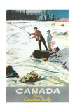 Travel Poster for Fishing in Canada