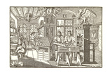 Woodcut of Old Print Shop