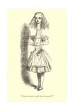 Alice in Wonderland  Stretched Neck