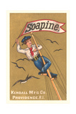 Sailor on Mast with Banner