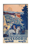 Travel Poster for Mussoorie  India