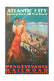 Atlantic City Travel Poster