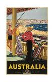 Australia Travel Poster  Beach