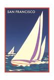 Sailboats in San Francisco Bay