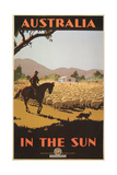 Australia Travel Poster  Sheep