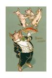 Bonne Annee  Dancing Pigs