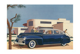 1940s Blue Sedan Automobile
